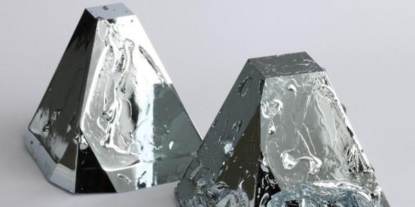 Das Bild zeigt Gallium Kristalle.