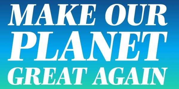 """Das Bild zeigt das Logo der Initiative  """"Make Our Planet Great Again"""""""