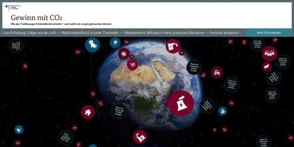 Das Bild zeigt den Startscreen des Wissenschaftsspiels