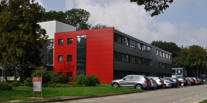 PtJ-Gebäude auf dem Campus des Forschungszentrums Jülich