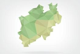 Das Bild zeigt eine Grafik des Landes Nordrhein-Westfalen.